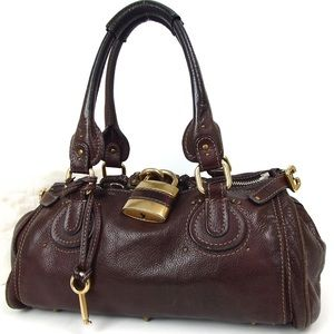 Authentic CHLOE Brown Paddington Handbag FIRM